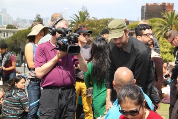 The media frenzy continues. Photo by Joe Rivano Barros.