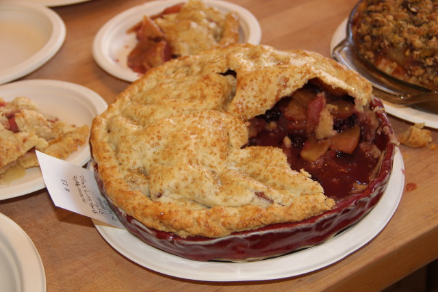An apple blackberry sage pie by Deborah Carlswift, winner of the Baker's Choice Pie. Photo by Joe Rivano Barros.