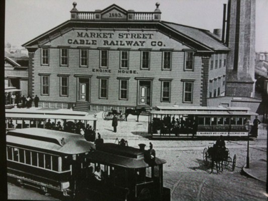 """The United Railroads Powerhouse at Valencia and Market, circa 1880s. Photo courtesy of <a href=""""http://foundsf.org/index.php?title=Market_Street_Hub_Neighborhood/"""">FoundSF</a>"""