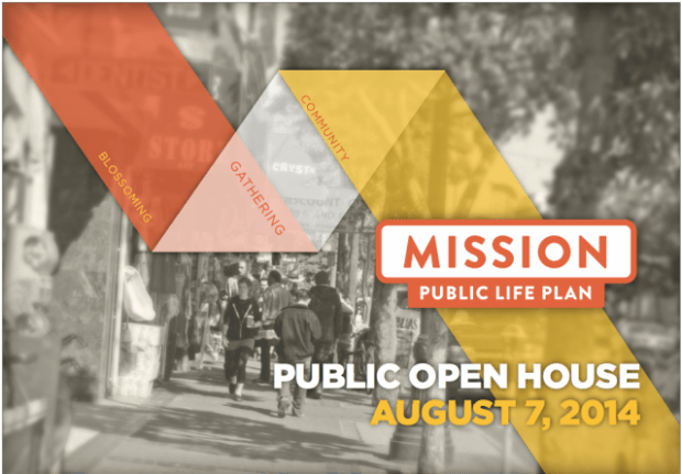 The Mission Public Life Plan hopes to revamp the Mission corridor by focusing on commerce, public spaces, and new art. Screenshot from Mission Public Life Plan.