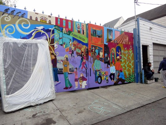 The mural next door. Photo by Lydia Chávez