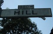 Hill Street begins here. Photo by Anita O'Brien
