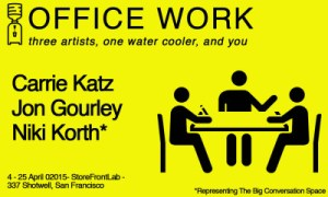 OFFICE WORK // Three Artists, One Water Cooler, and You @ StoreFrontLab
