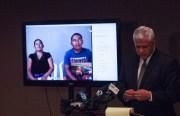 El abogado Arnoldo Casillas habla con los padres de Amilcar Pérez-López, Margarita y Juan, quienes llamaron desde Guatemala.