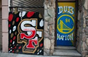 The Giants reign in the Mission, but the Warriors are quickly building an audience.  Photo by Lola M. Chavez