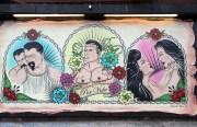 The mural on Sunday.  Photo by Lydia Chávez