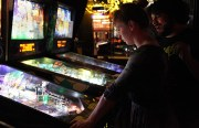 The Mission Pinball Club met for the second time on February 16 at Gestalt at 3159 16th St.  Photo by Laura Waxmann