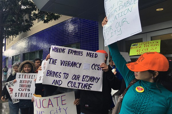 http://Protesters%20demanding%20fair%20wages%20gather%20at%20San%20Francisco%20City%20College's...