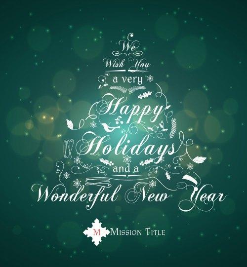 Medium Of Happy Holidays And Happy New Year