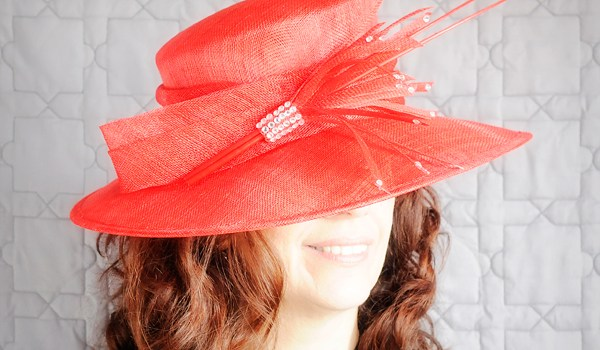 Friday Feature | Red Hat with Rhinestones