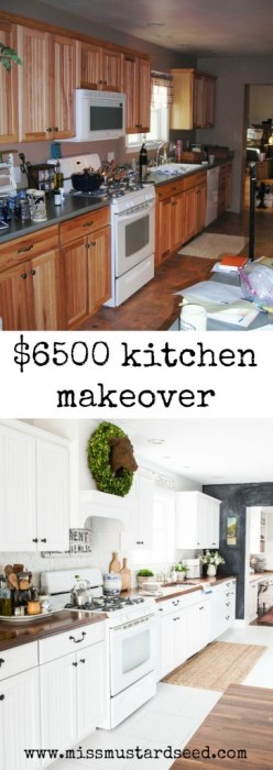 kitchen makeover Collage