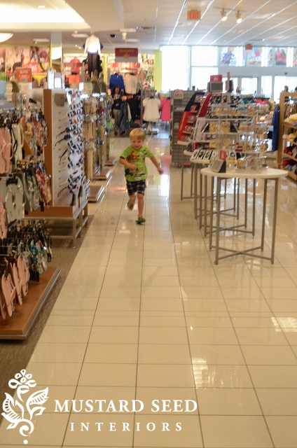 while the other one was that kid, running through the aisle