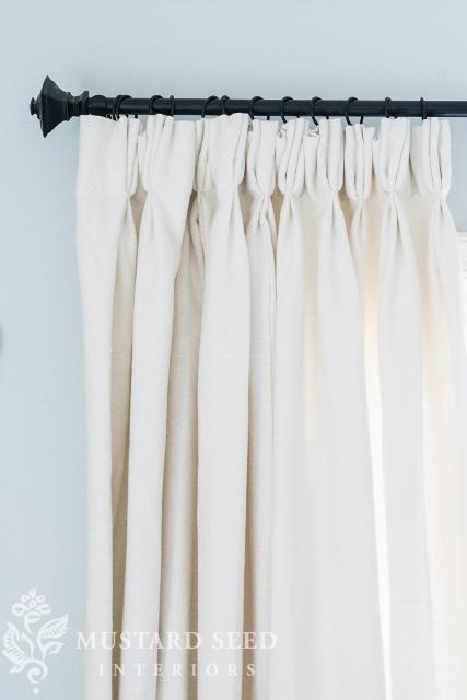 Hanging a curtain rod made simple - missmustardseed.com