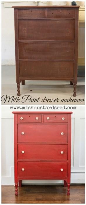 MMS Milk Paint Dresser Makeover - www.missmustardseed.com