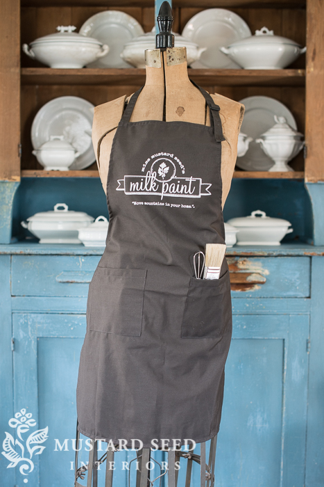 milk paint apron | miss mustard seed