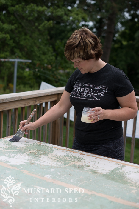 sealing chippy paint | miss mustard seed