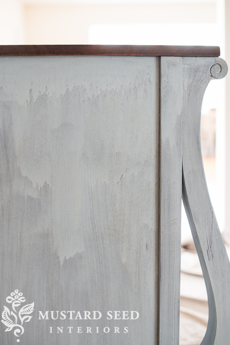 milk paint after one coat | miss mustard seed