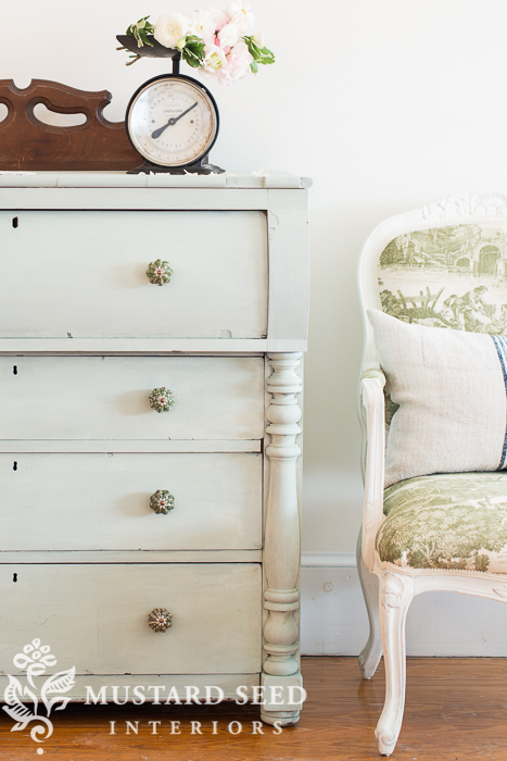 Layla's Mint Milk Paint Dresser from Miss Mustard Seed | Friday Favorites at www.andersonandgrant.com