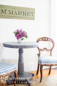 pedestal table & balloon back chairs