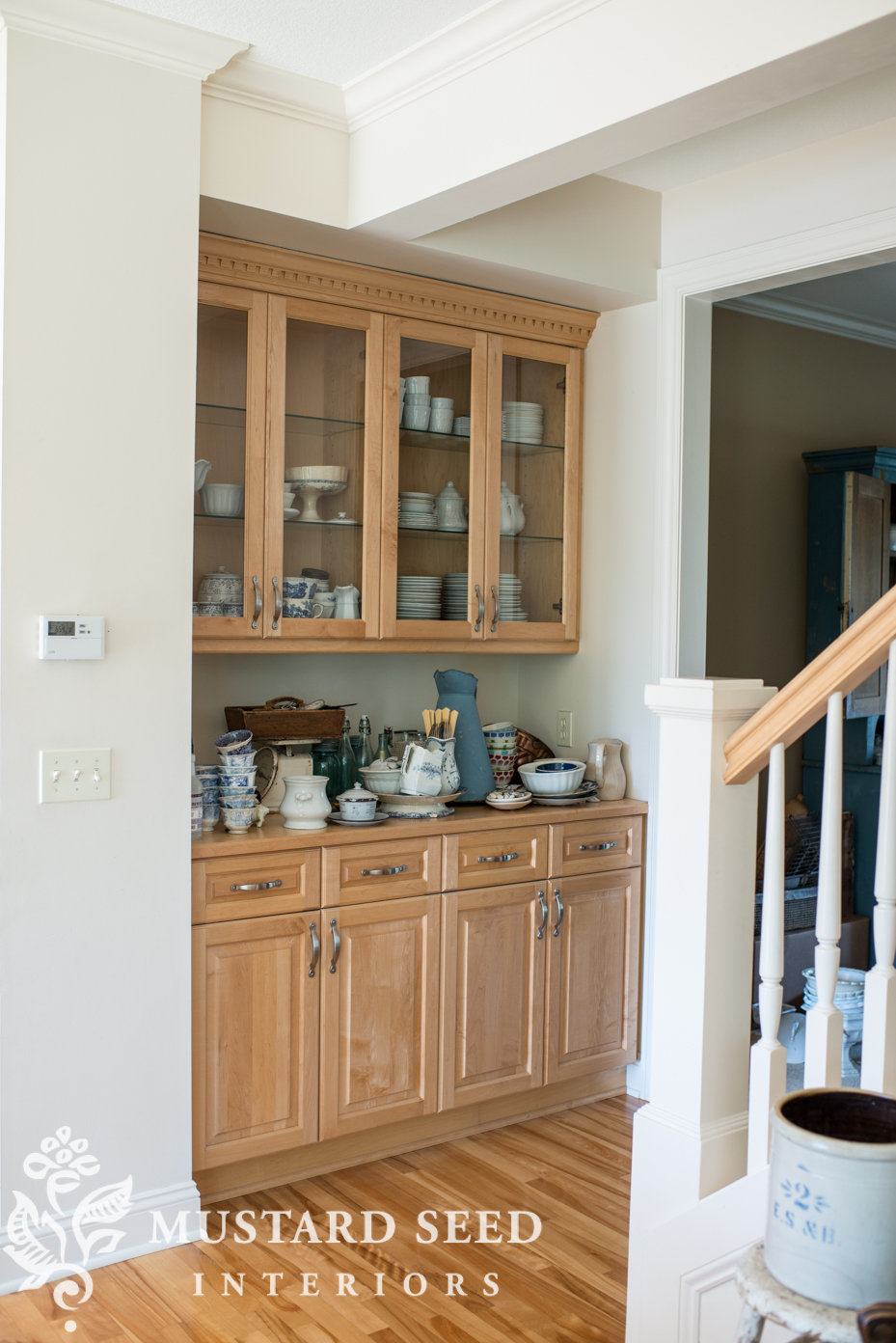 Glancing Ironstone Miss Mustard Seed Twobusier Hutch Swap All Breakables When We Startedunpacking I Was Eager To Get It Tidied Over Course It Quickly Became Dumping Ground houzz 01 What Is A Butlers Pantry
