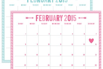 FREE 2015 Valentine Calendar Printables