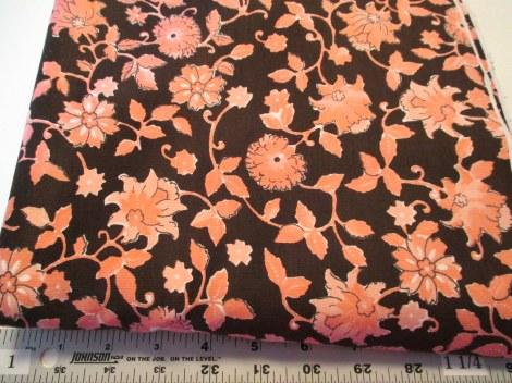 Brown/Pink floral corduroy