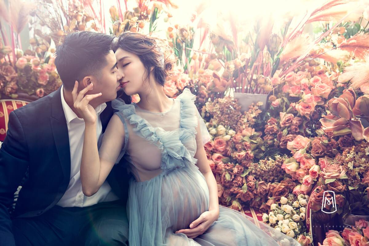 孕婦寫真,女攝影師,孕媽咪,花牆,精靈系