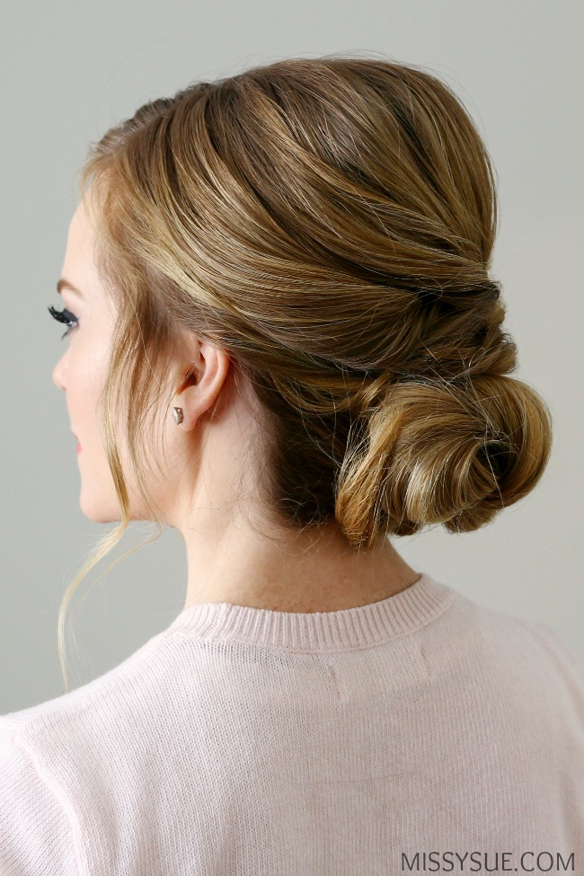 how to use a hair donut low bun