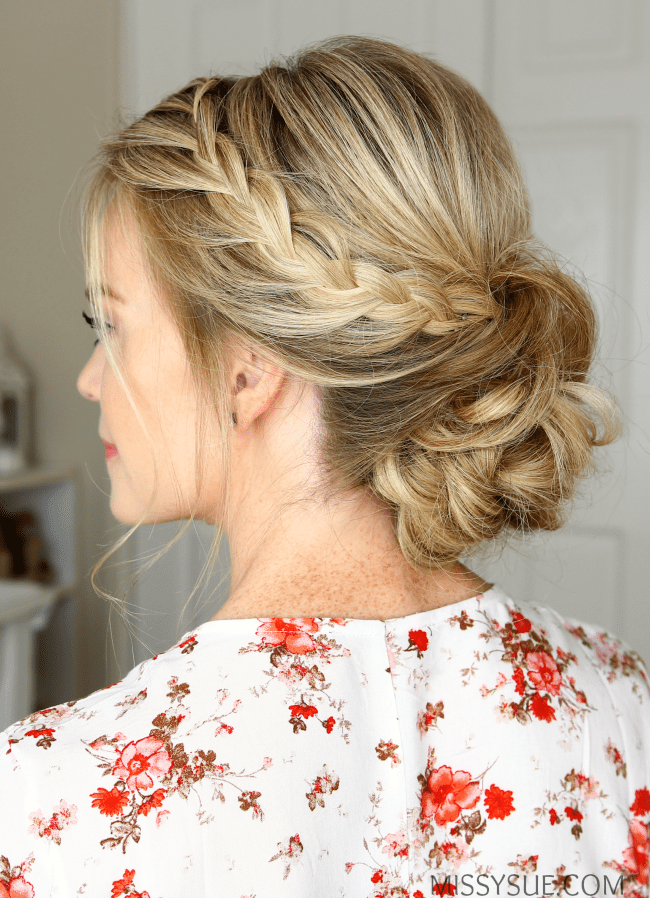 Double Lace Braids Updo