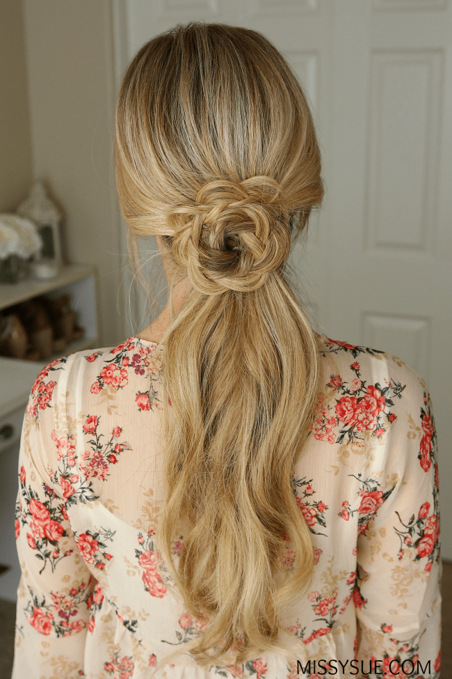 flower-embellished-ponytail-hair-tutorial
