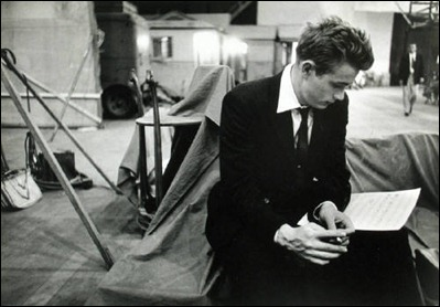 Bob_Willoughby_James_Dean_reading_music_score_for_Rebel_Without_A_2577_41[1]