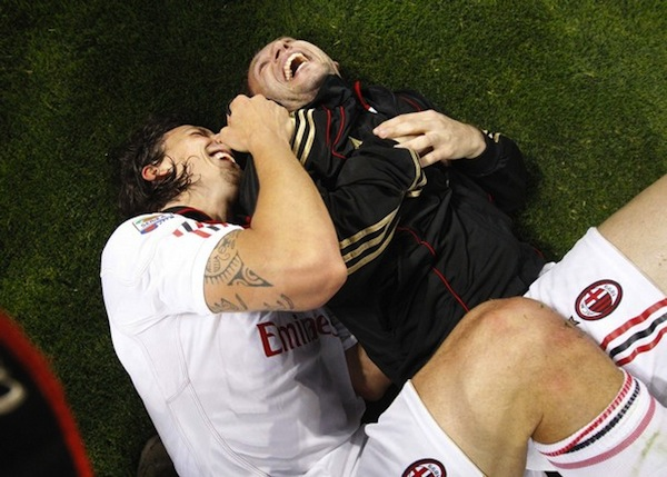 zlatan and cassano laughing