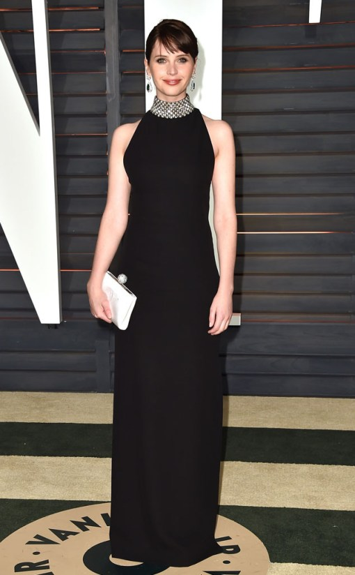 Felicity Jones vestido after party oscar 2015