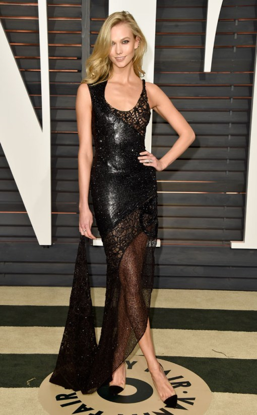 Karlie Kloss vestido after party oscar 2015