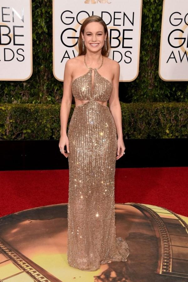 look golden globe awards 2016 Brie Larson