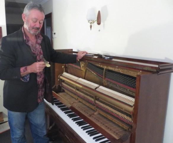 Piano tuner Peter Clark