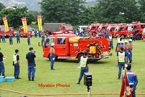 消防車,分団,訓練,放水,大会,群馬県,高崎,榛名,イベント