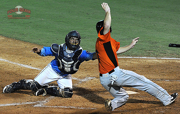 A different angle for a play at the plate