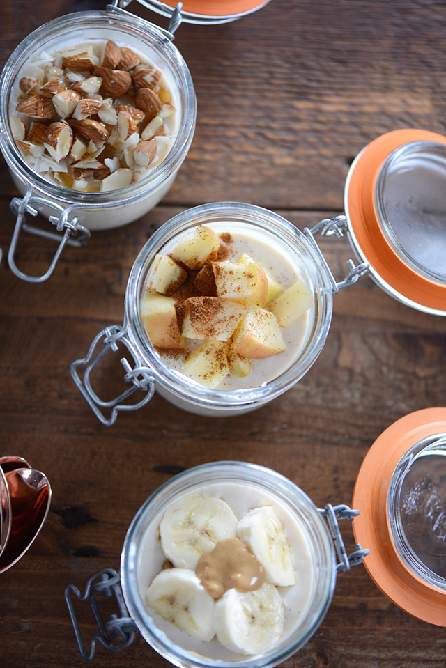 Overnight Oats- three ways! Get this easy recipe for a healthy on-the-go breakfast!