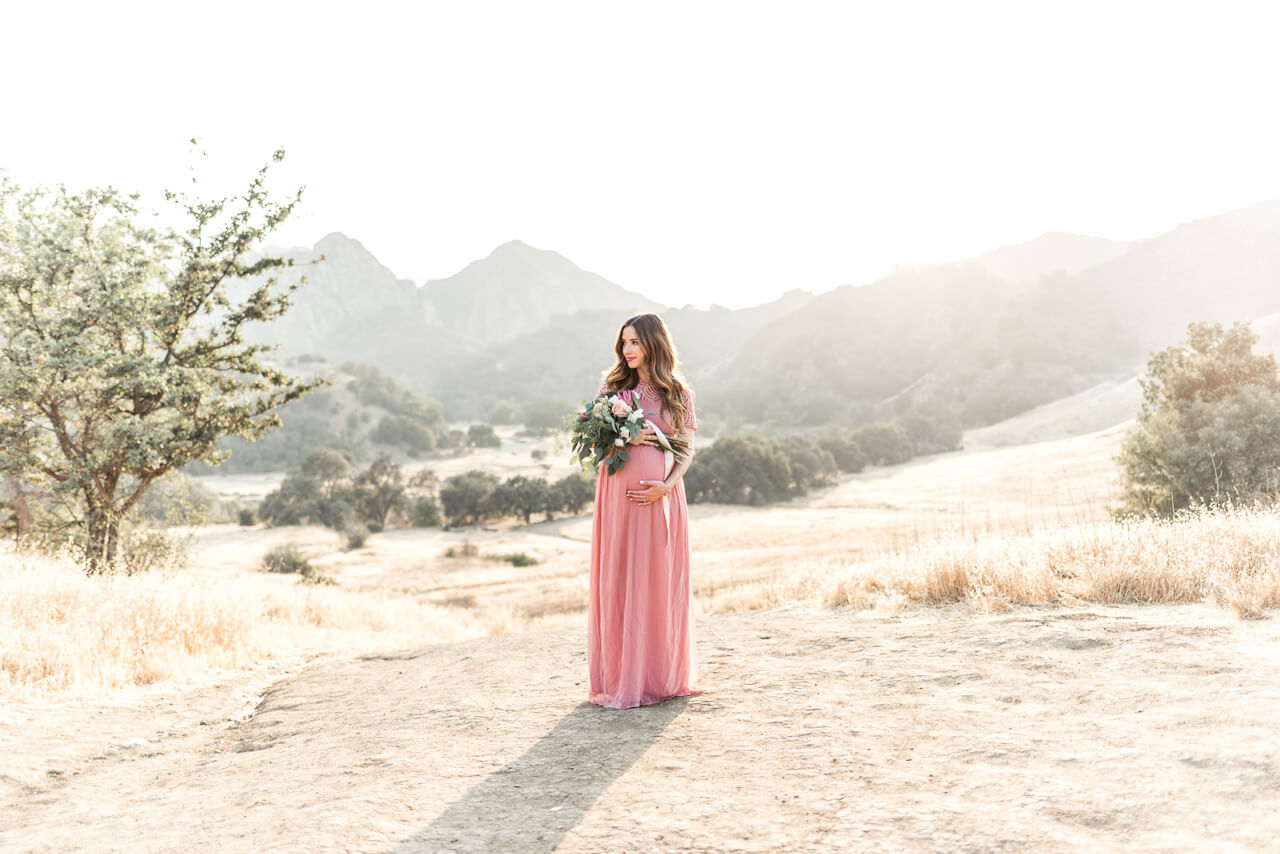 feminine pink maxi dress from ASOS Maternity