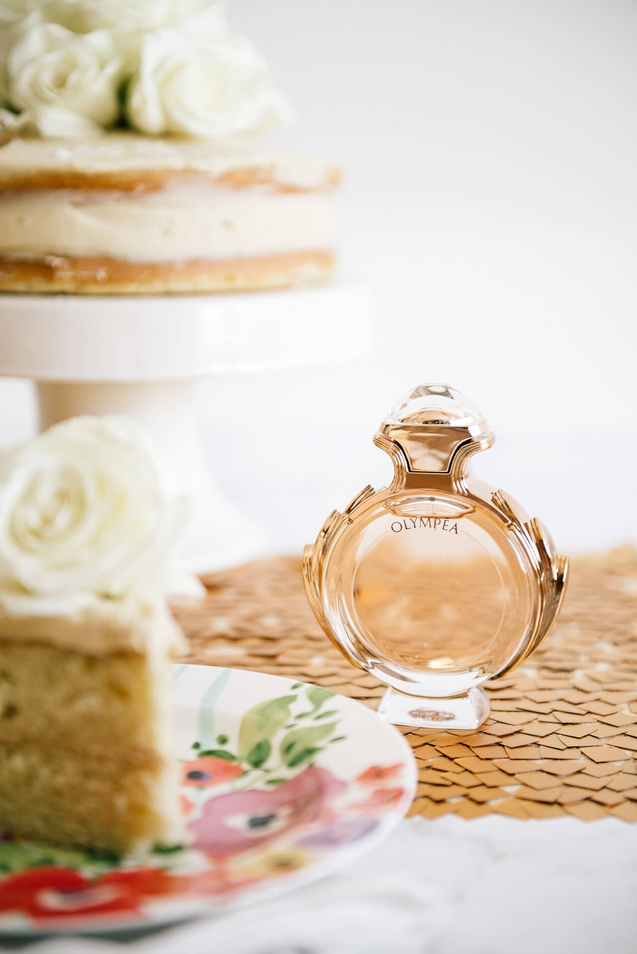 cake inspired by paco rabanne olympea perfume