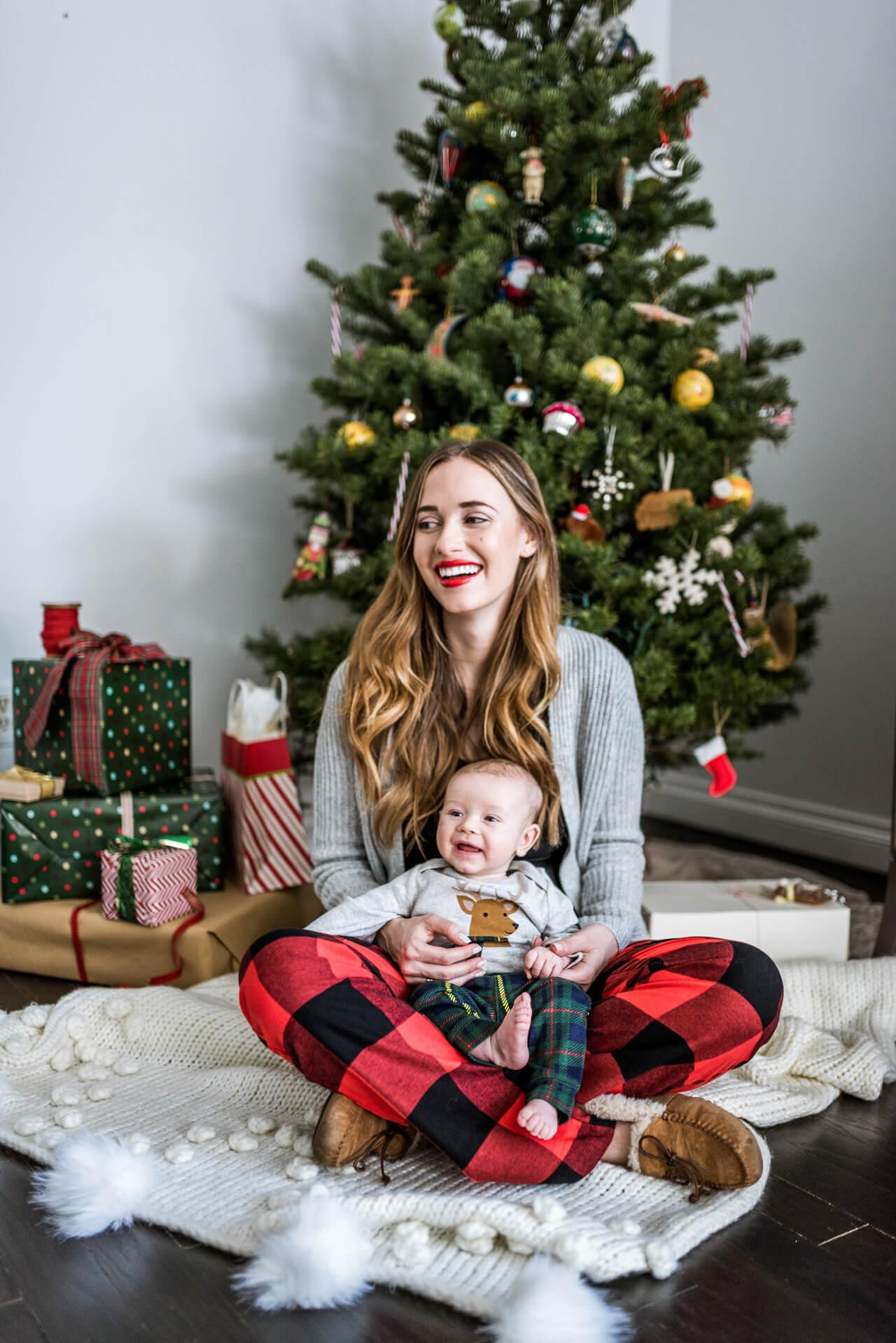 mom and baby christmas pajamas