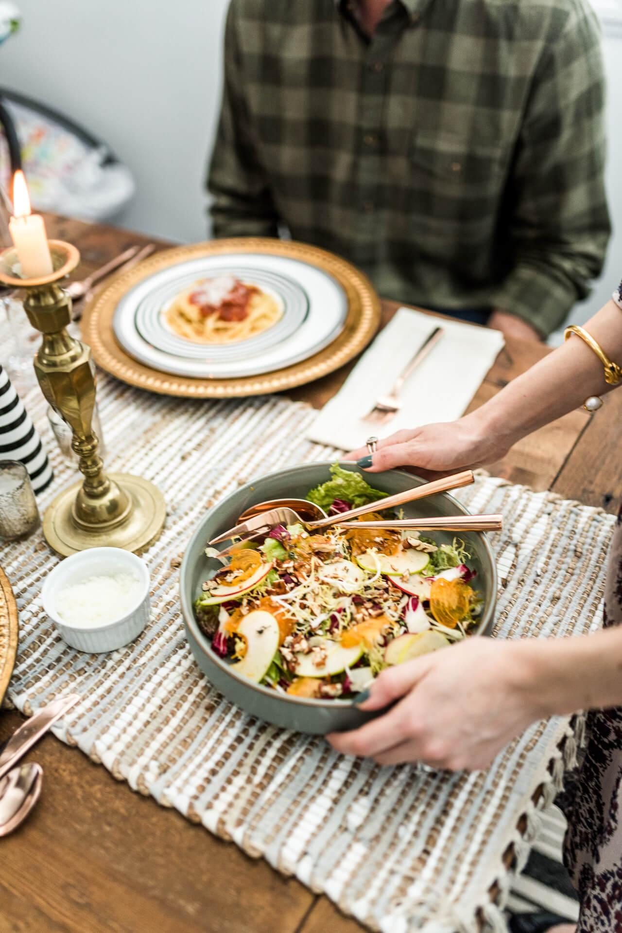 my favorite kind of date night- fall winter salad
