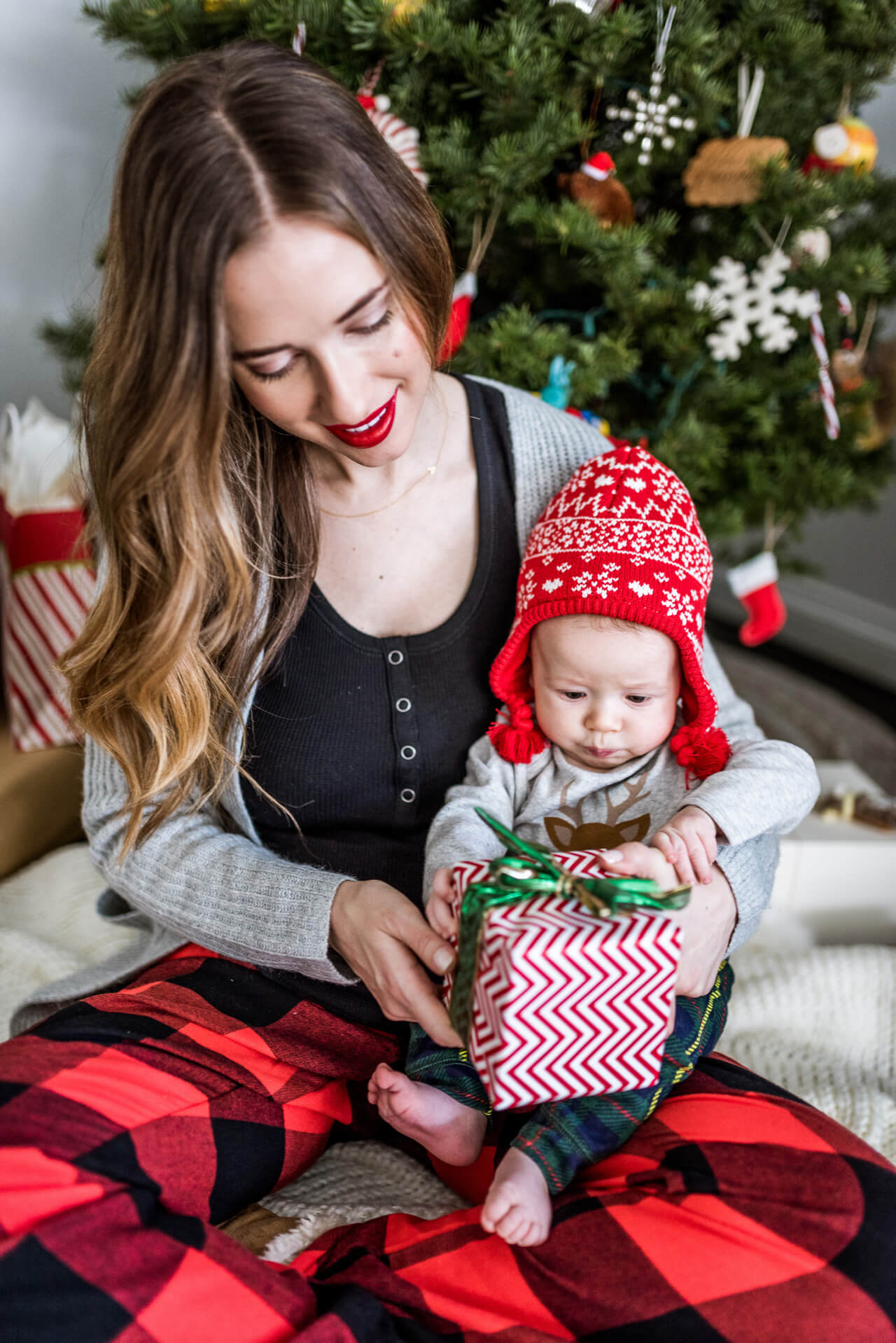 celebrating our baby's first christmas