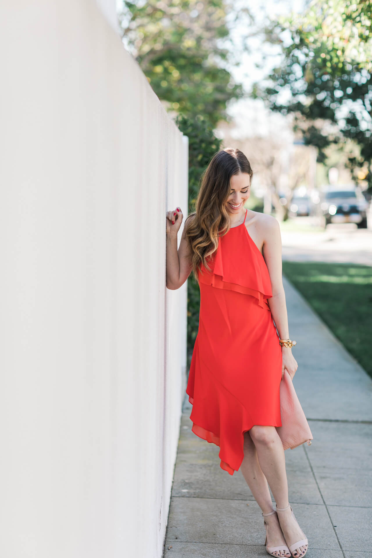 red ruffle dress - pretty valentine's day outfit inspiration