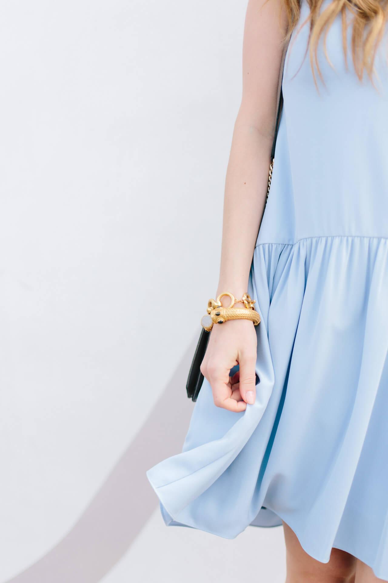 flowy light blue dress