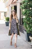 styling a cold shoulder dress for spring