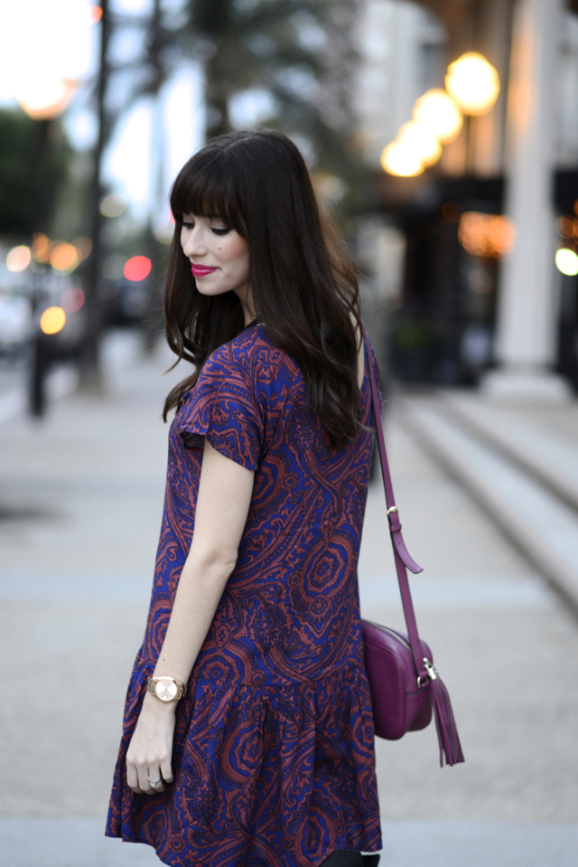 purple printed dress M Loves M @marmar