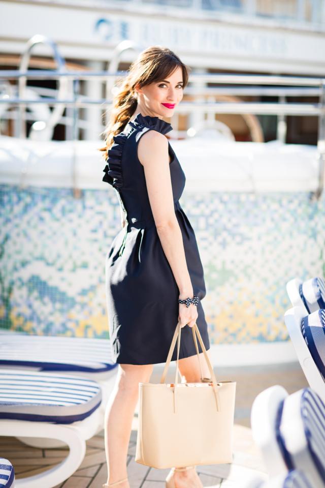 navy ruffle dress by Camilyn Beth M Loves M @marmar