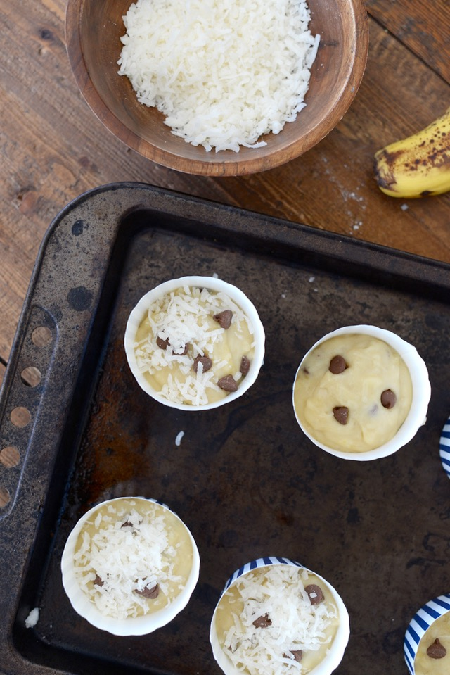 making banana coconut muffins M Loves M @marmar
